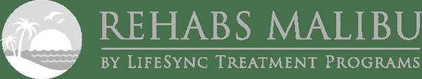 Rehabs Malibu Black and White Logo